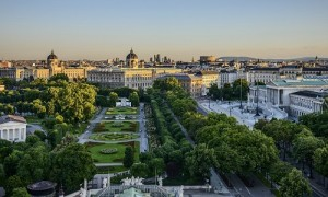 Vienna - View of Volksgarten, Museums and Parliament _500X300