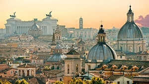 View of Rome from Castel Sant'Angelo, Italy._300x170