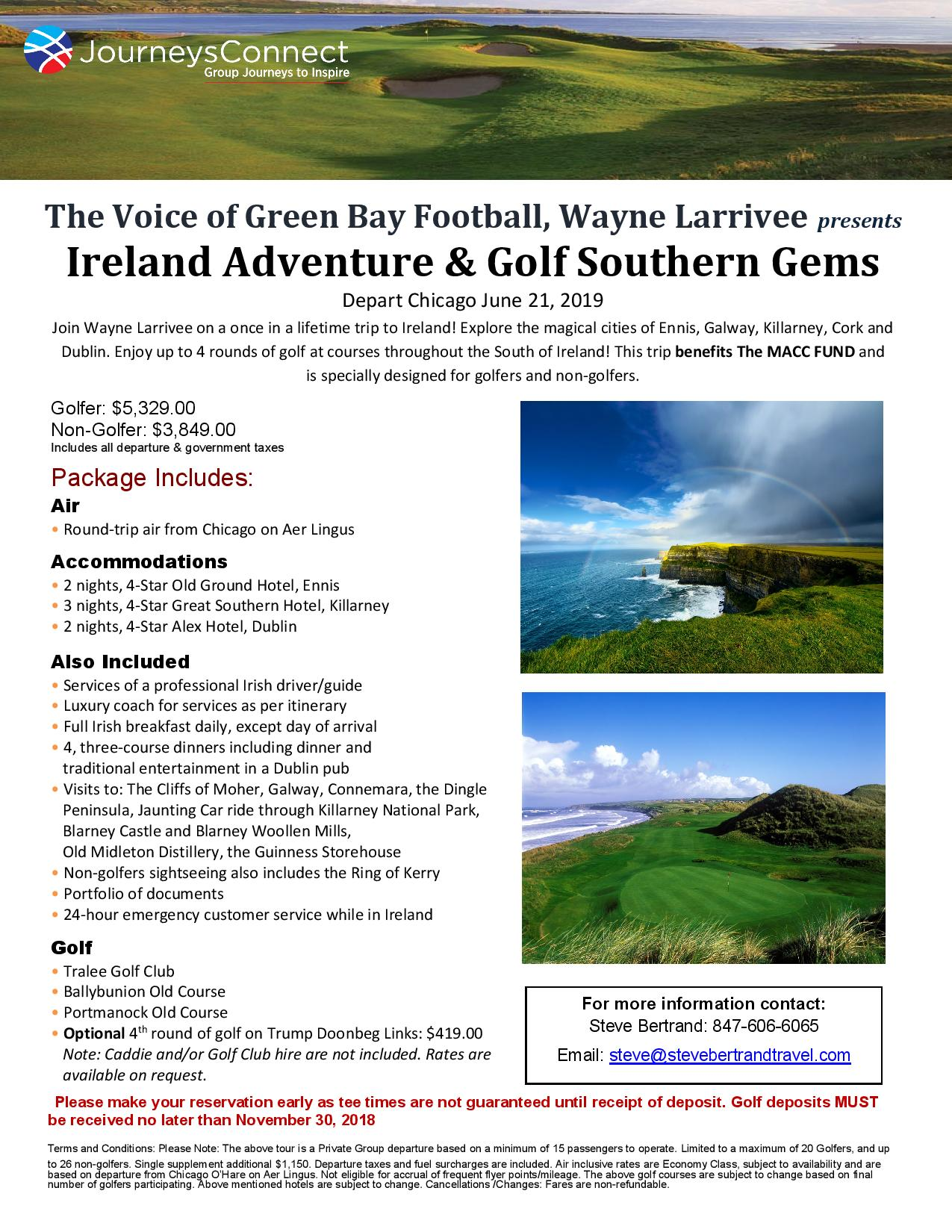 Wayne Larrivee Ireland Golf « SteveBertrandTravel