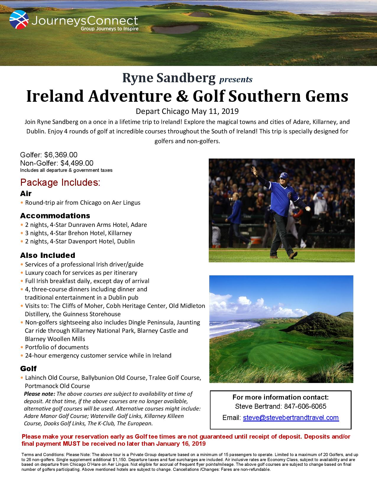 Ryne Sandberg Ireland Golf « SteveBertrandTravel